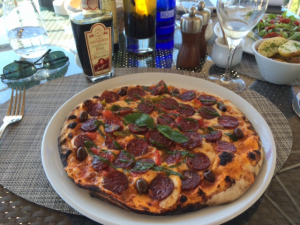 Diavolo pizza - watch the hot oil, even if you like hot food!