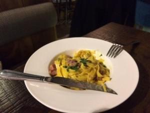 Seafood Tagliatelle Carbonara